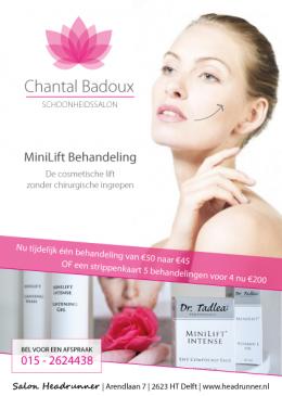 Chantal Badoux Schoonheidssalon - MiniLift Flyer (voorkant)
